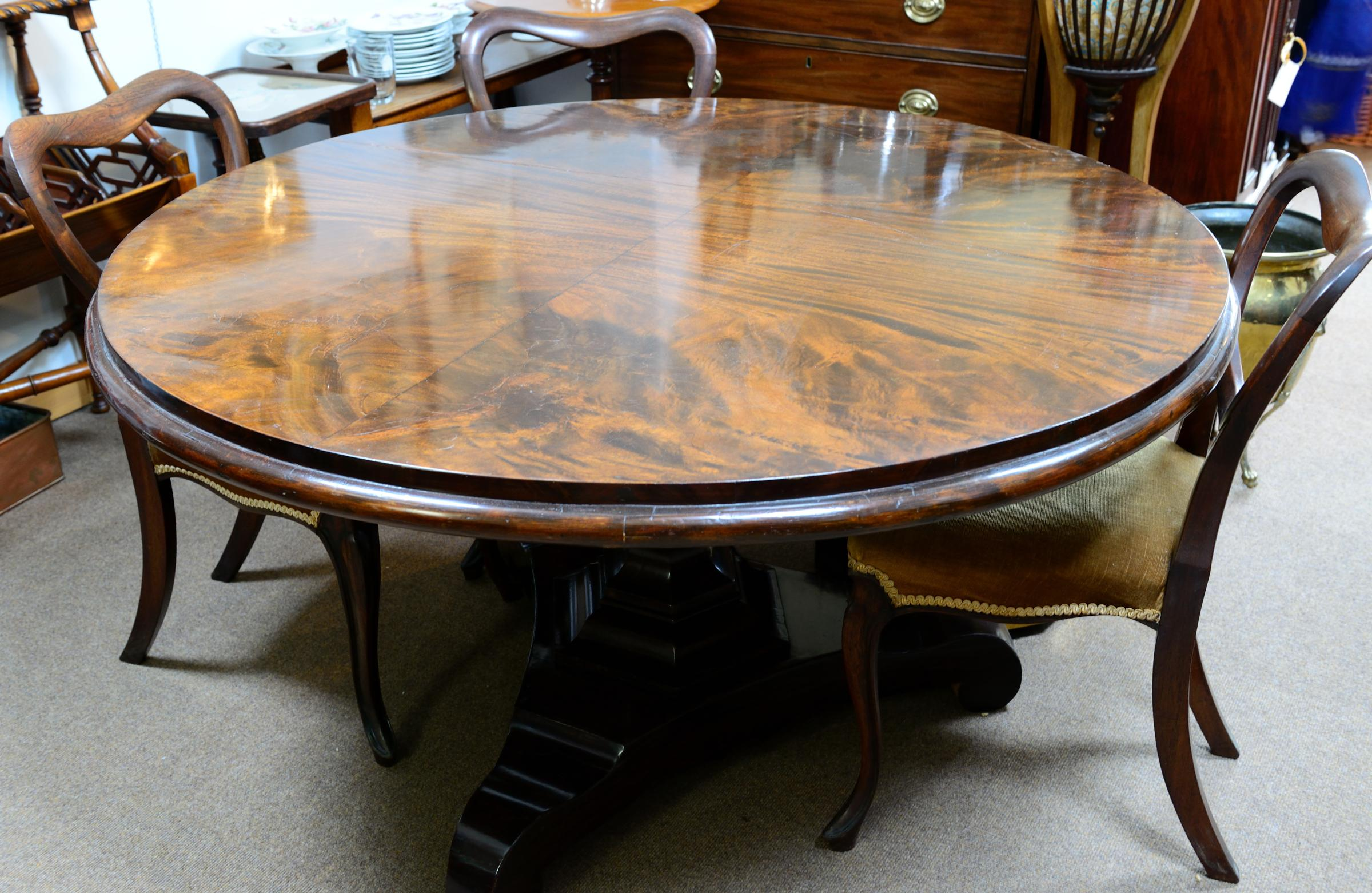 Rosewood Tilt Top Dining Table