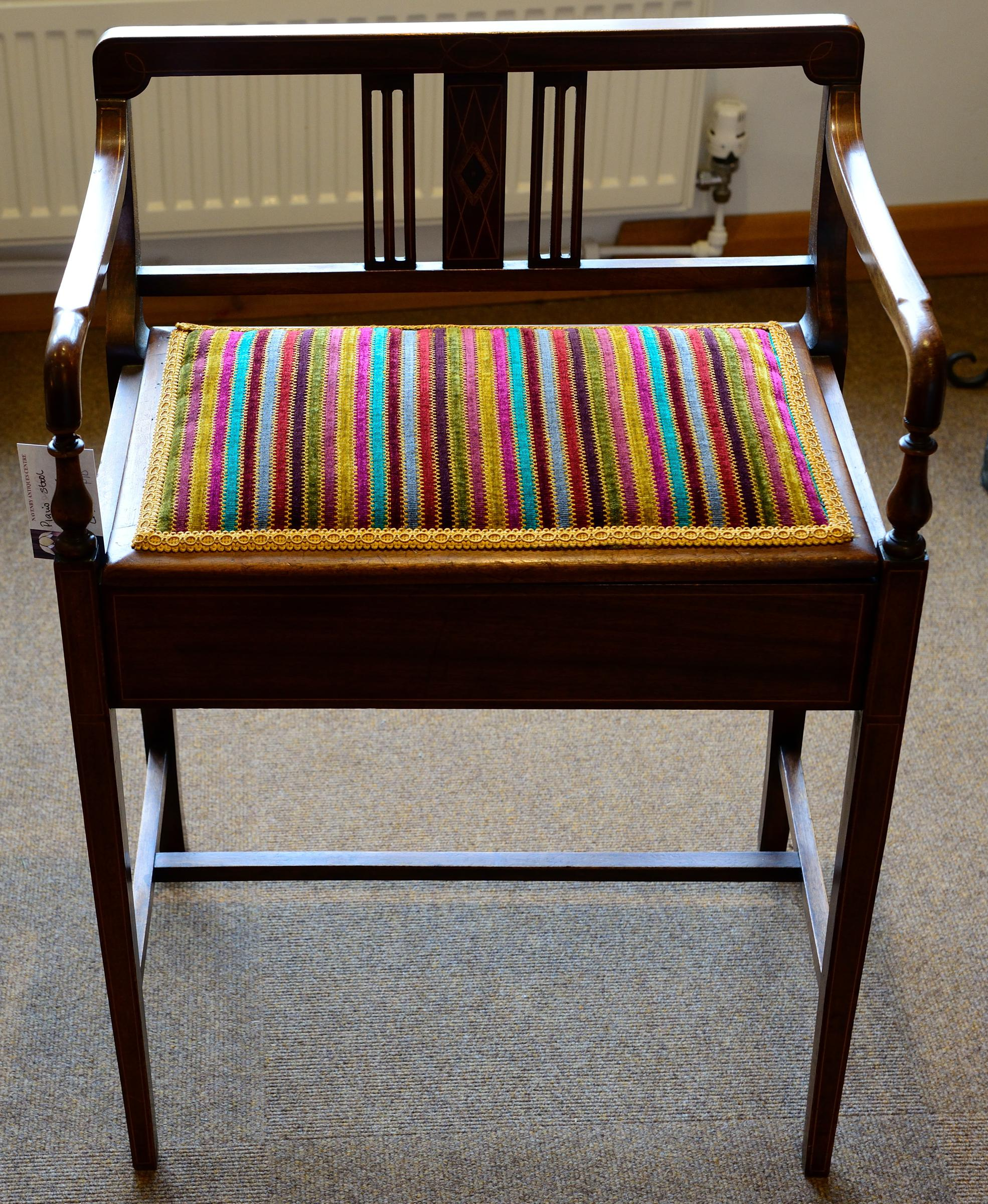 Unusual Regency Style Piano Stool
