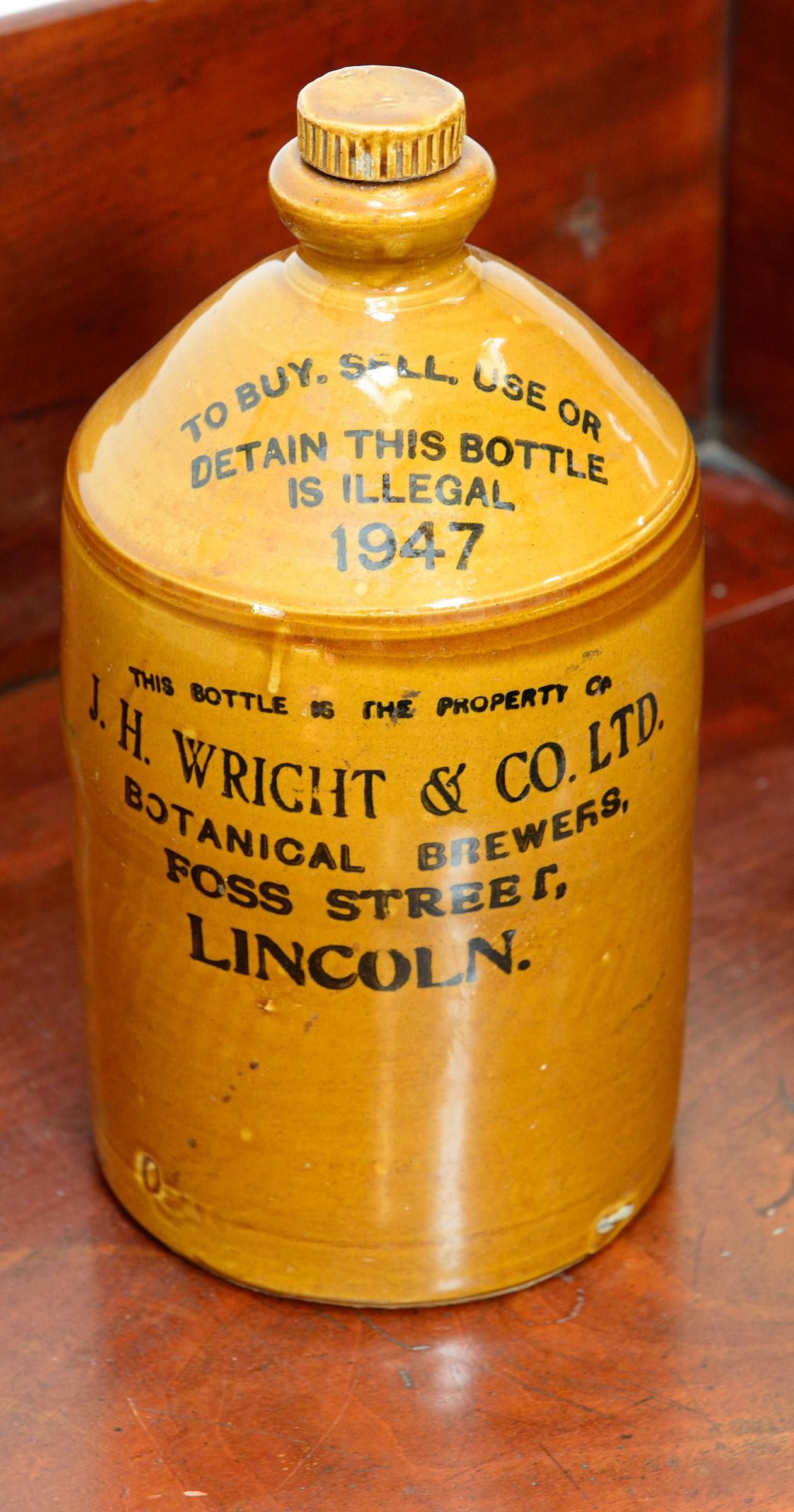 Vintage Lincoln Beer Flagon