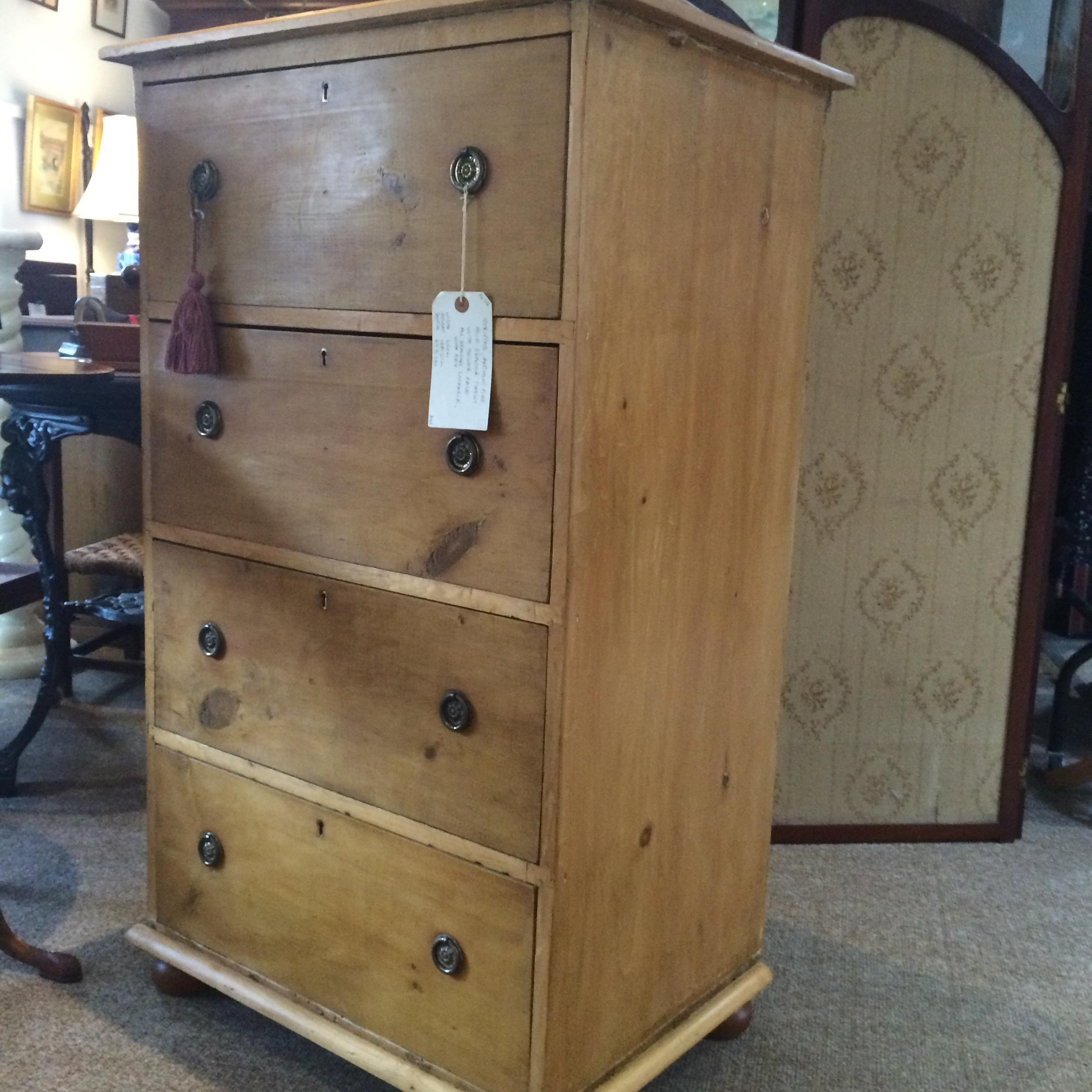 Antique Stripped Pine Chest